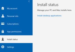 Office 365 install status
