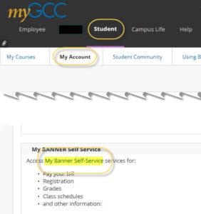 Banner Self Service link