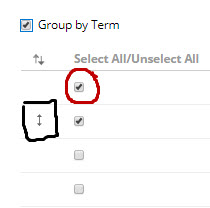 Settings for Group by Term